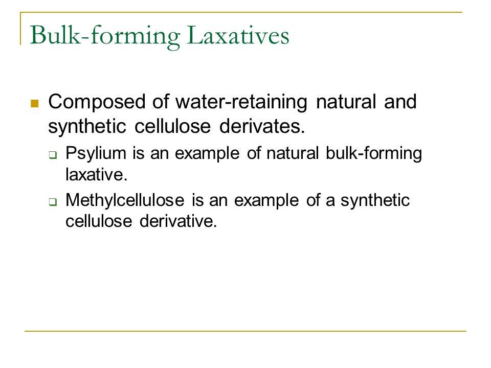 Bulk-forming Laxatives