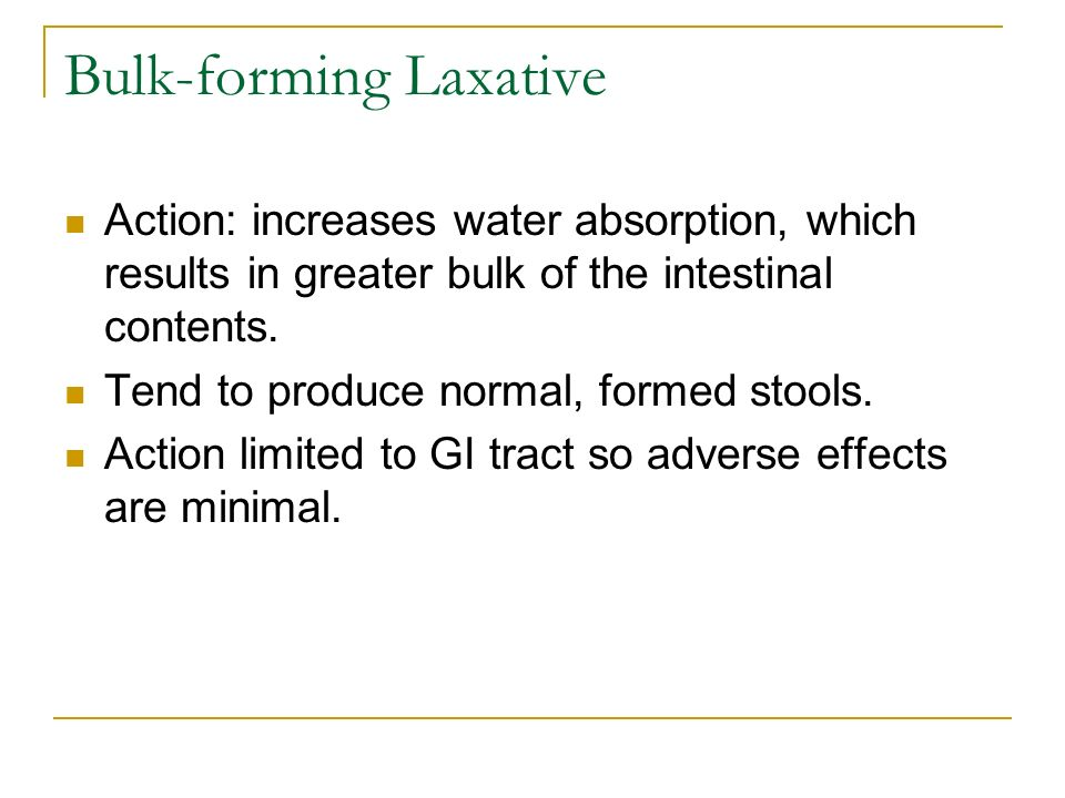 Bulk-forming Laxative