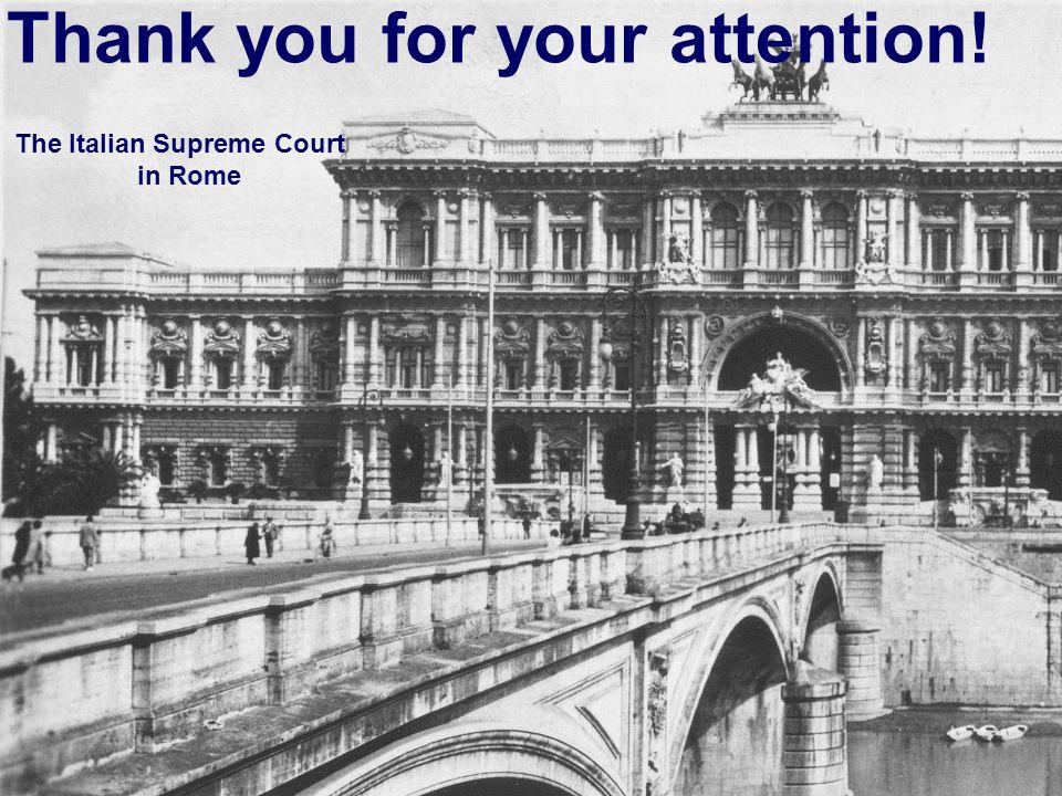 The Italian Supreme Court