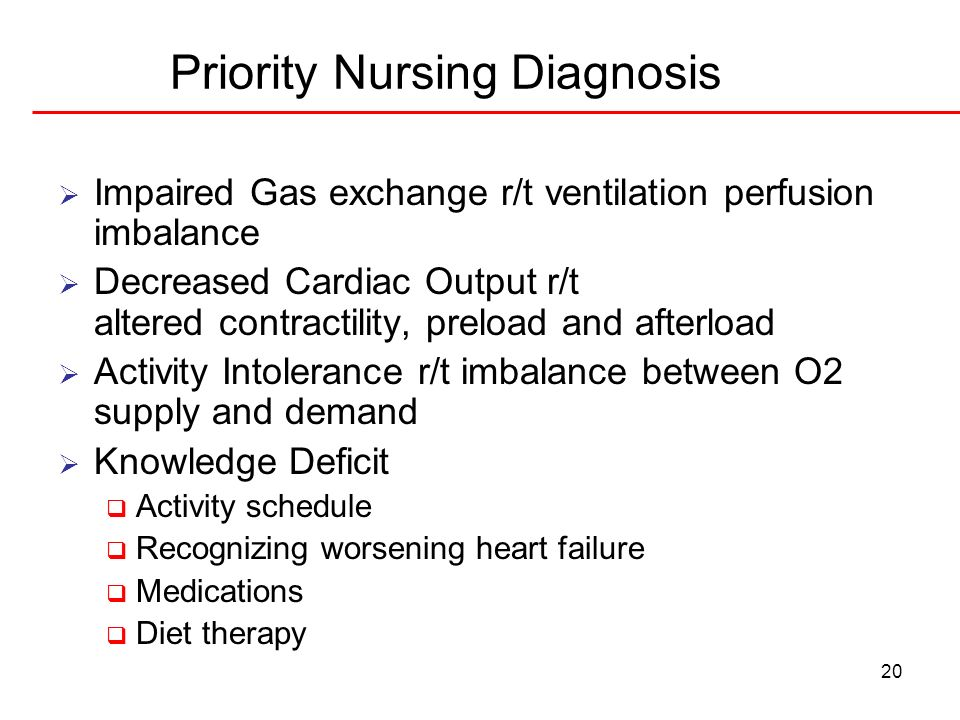 Priority Nursing Diagnosis
