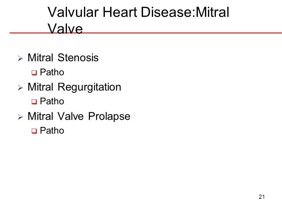 Valvular Heart Disease:Mitral Valve