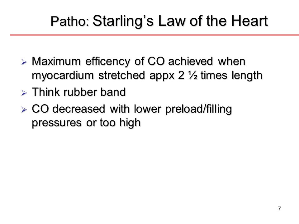 Patho: Starling's Law of the Heart