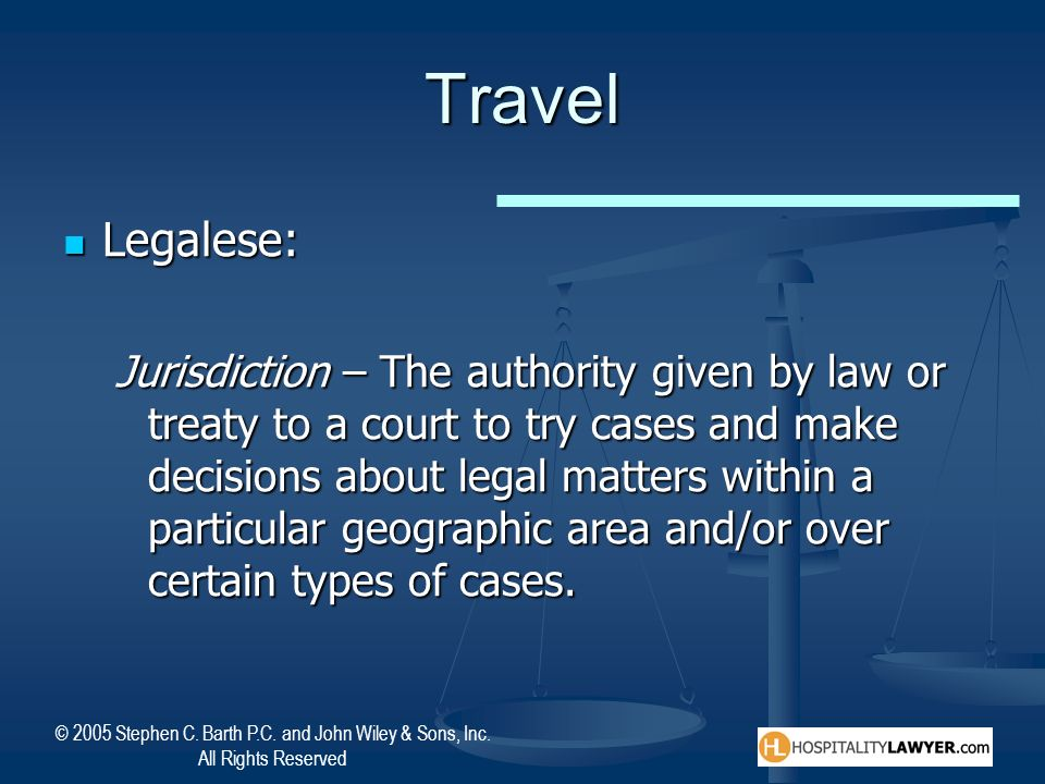 Travel Legalese: