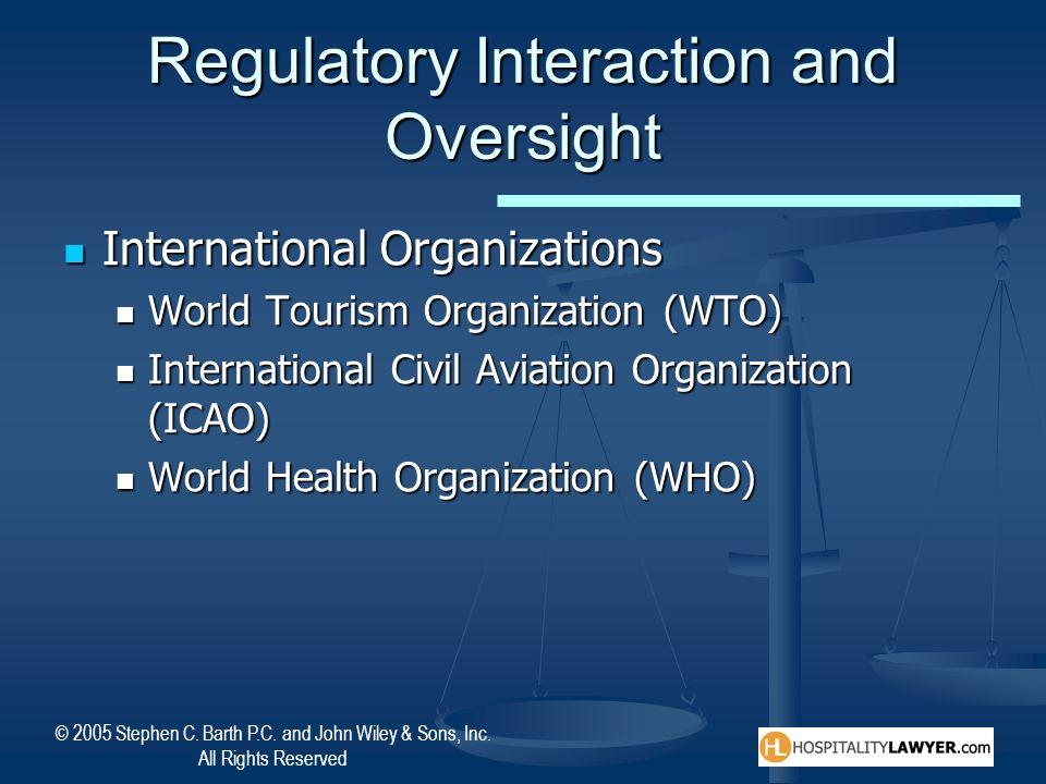 Regulatory Interaction and Oversight