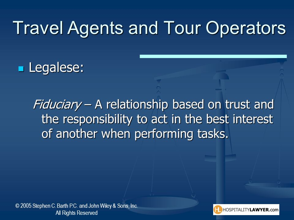 tour operators and travel agents relationship test
