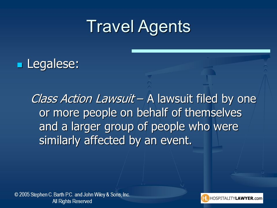Travel Agents Legalese: