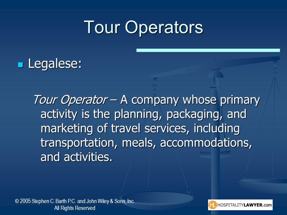 Tour Operators Legalese:
