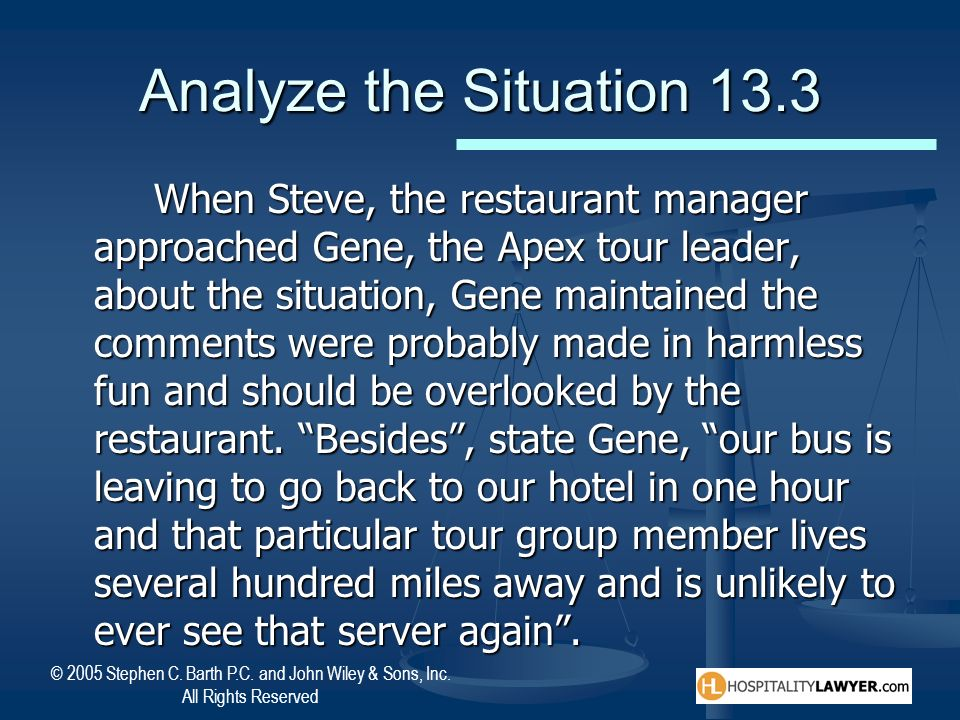 Analyze the Situation 13.3