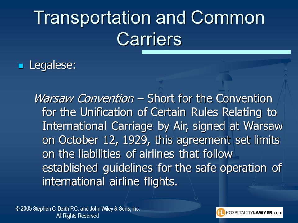 Transportation and Common Carriers