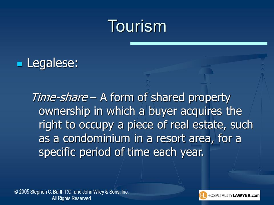 Tourism Legalese:
