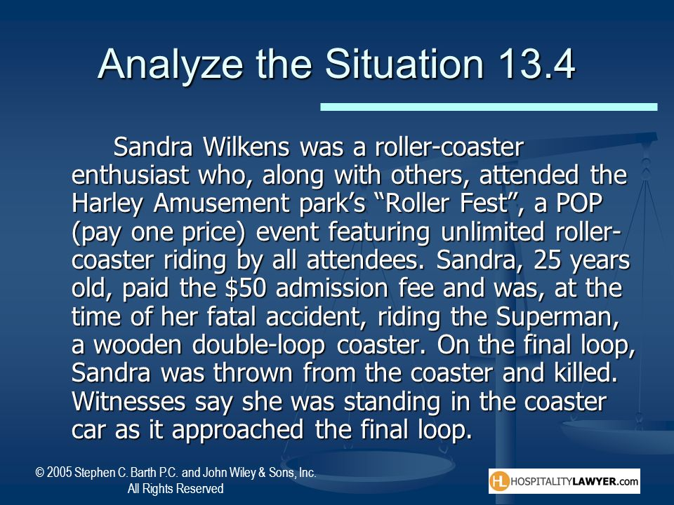Analyze the Situation 13.4