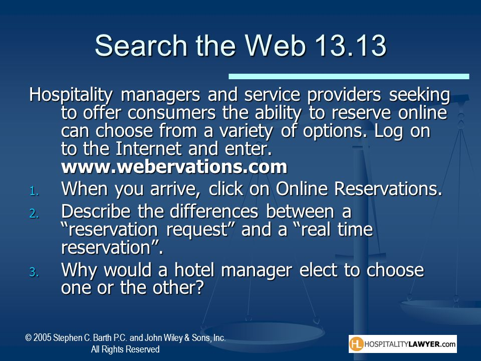 Search the Web 13.13