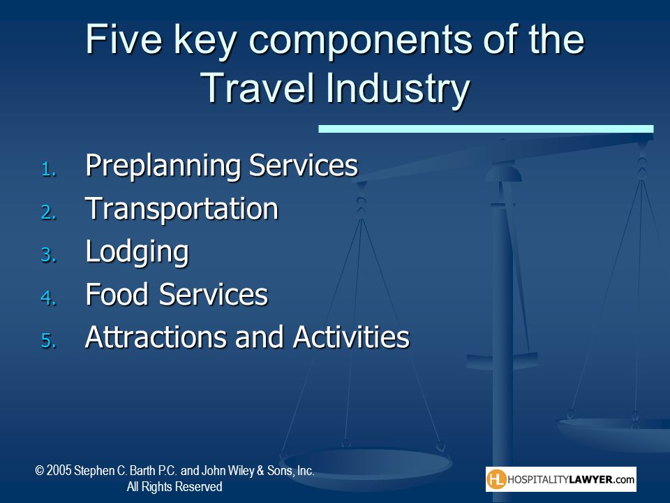 Five key components of the Travel Industry