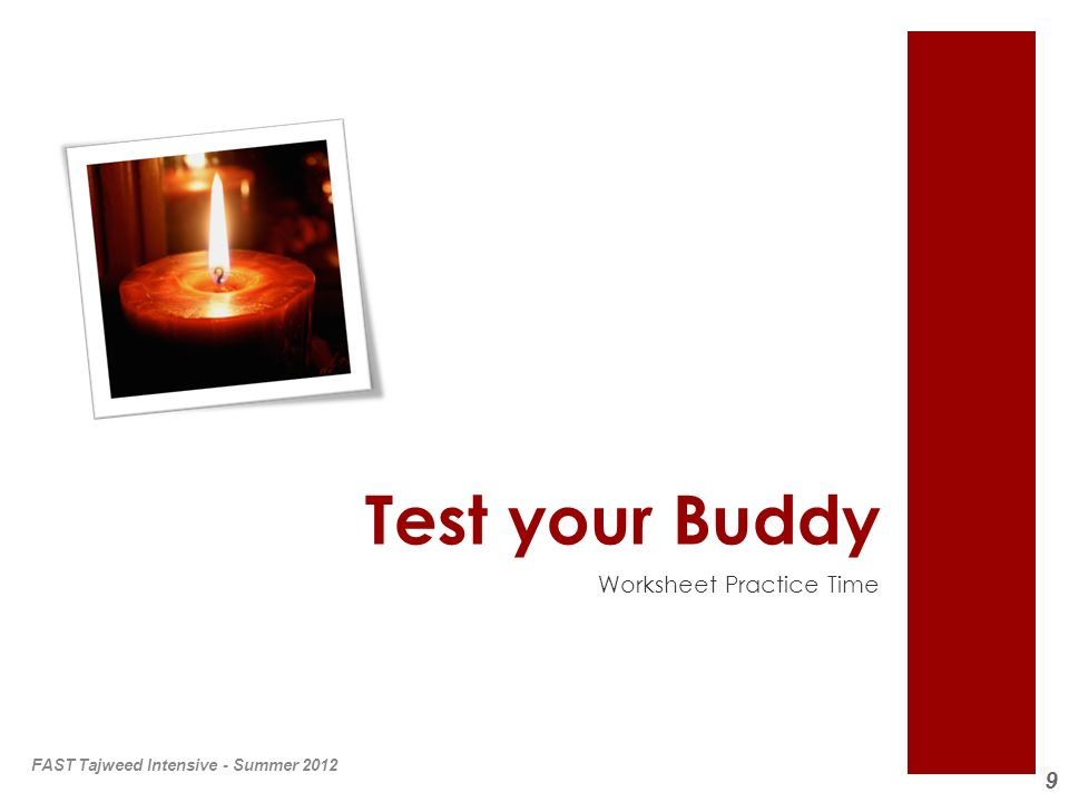 Test your Buddy Worksheet Practice Time