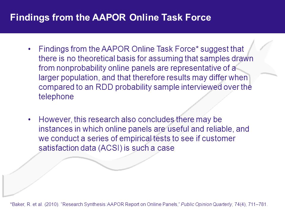 Findings from the AAPOR Online Task Force