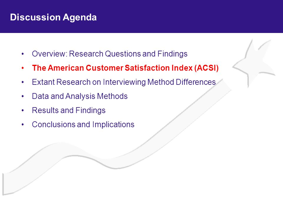 Discussion Agenda Overview: Research Questions and Findings
