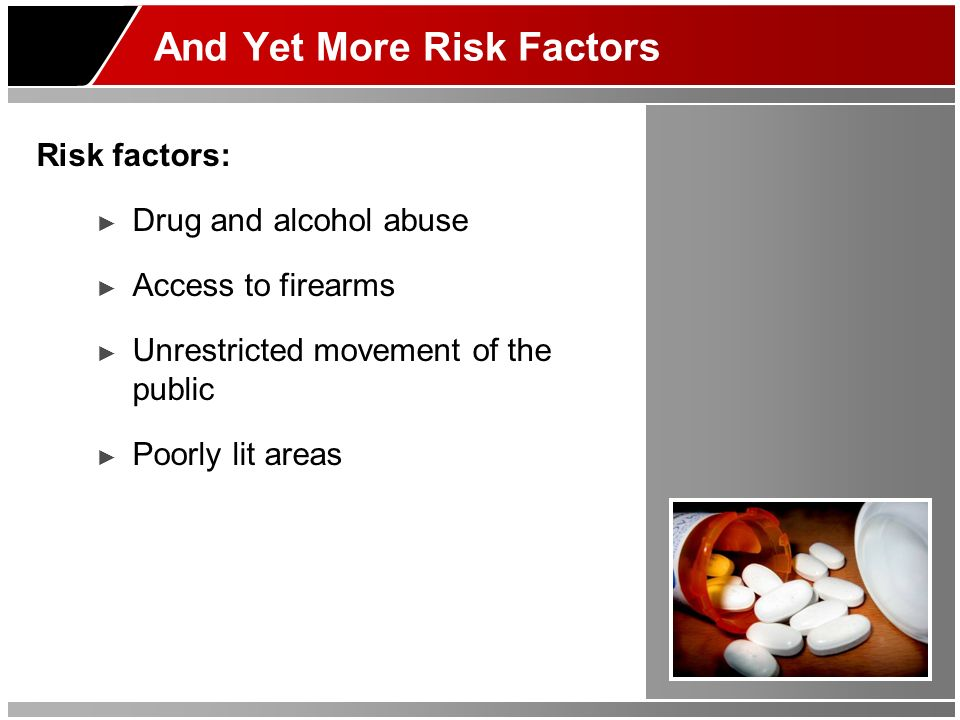And Yet More Risk Factors