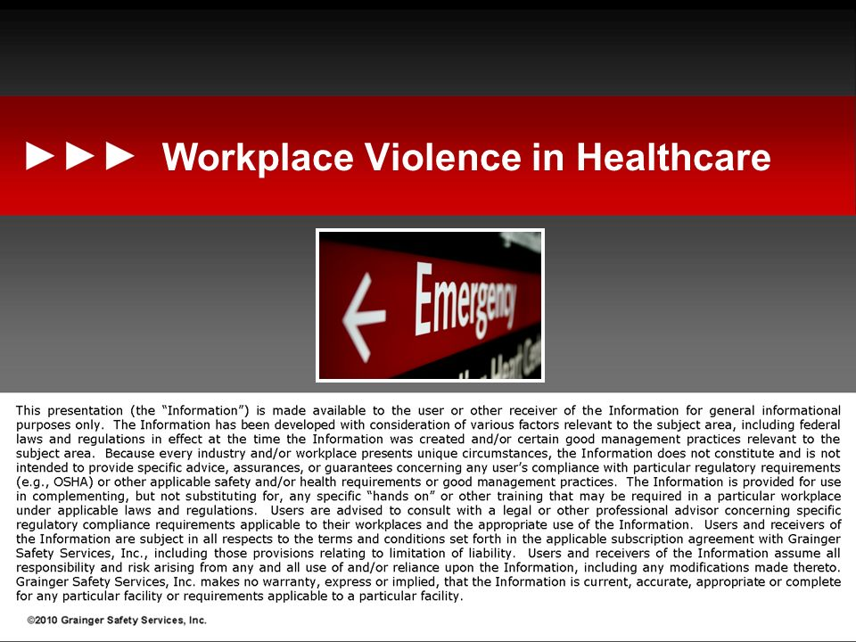Workplace Violence in Healthcare