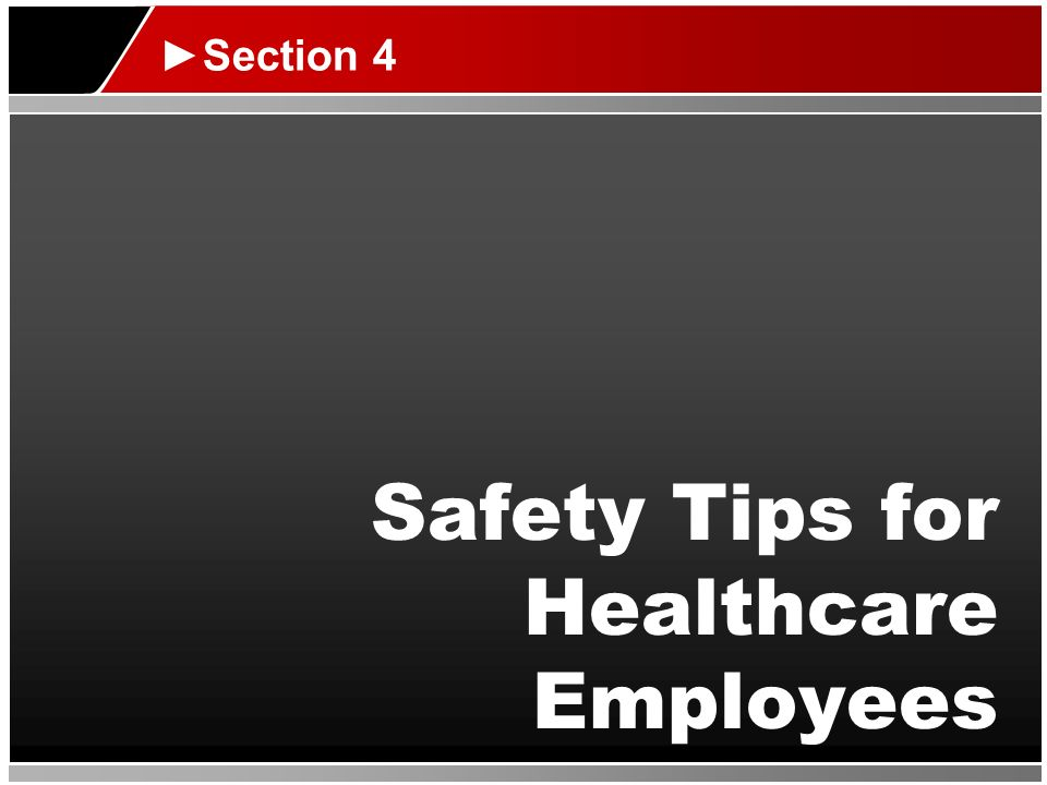 Safety Tips for Healthcare Employees