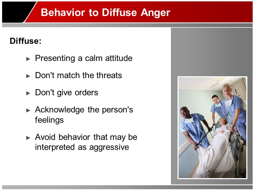 Behavior to Diffuse Anger