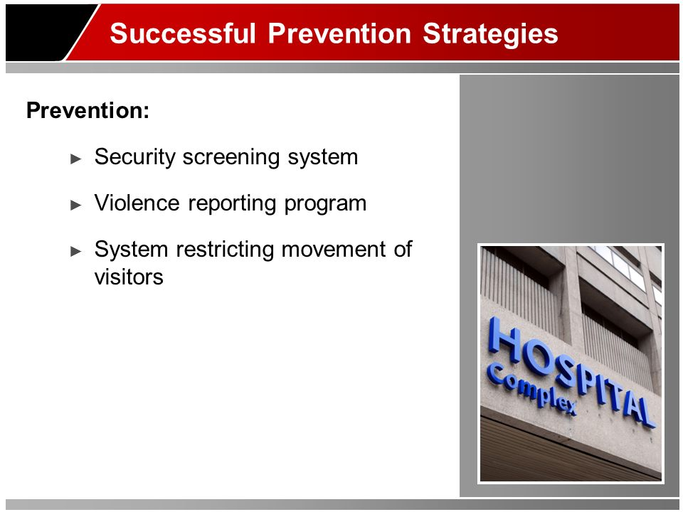 Successful Prevention Strategies