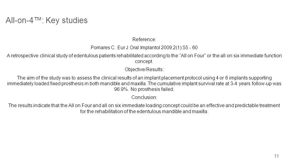 Pomares C. Eur J Oral Implantol 2009;2(1):55 - 60