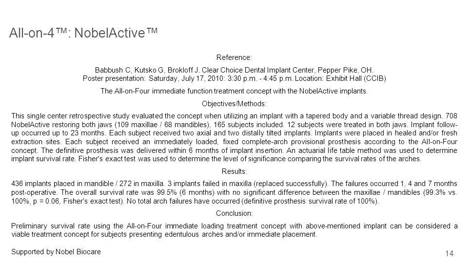All-on-4™: NobelActive™
