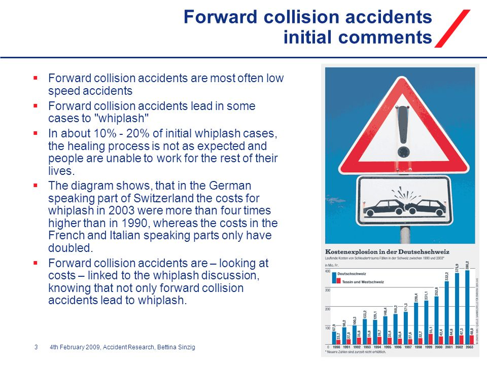 Forward collision accidents initial comments