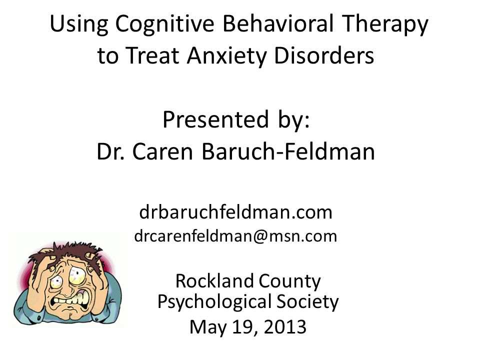 Rockland County Psychological Society May 19, 2013
