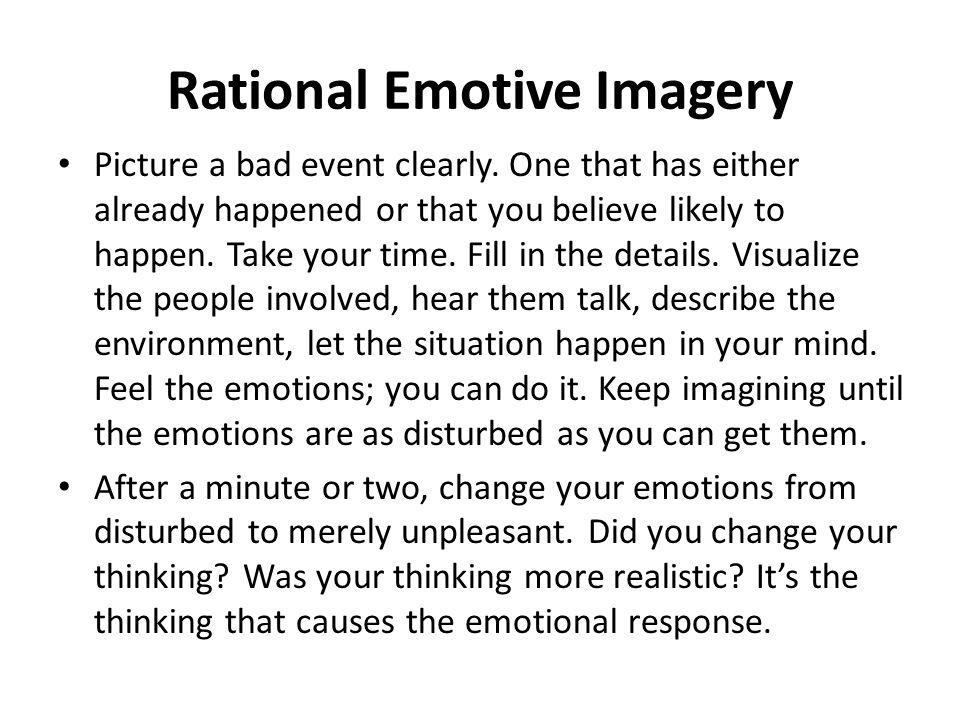 Rational Emotive Imagery