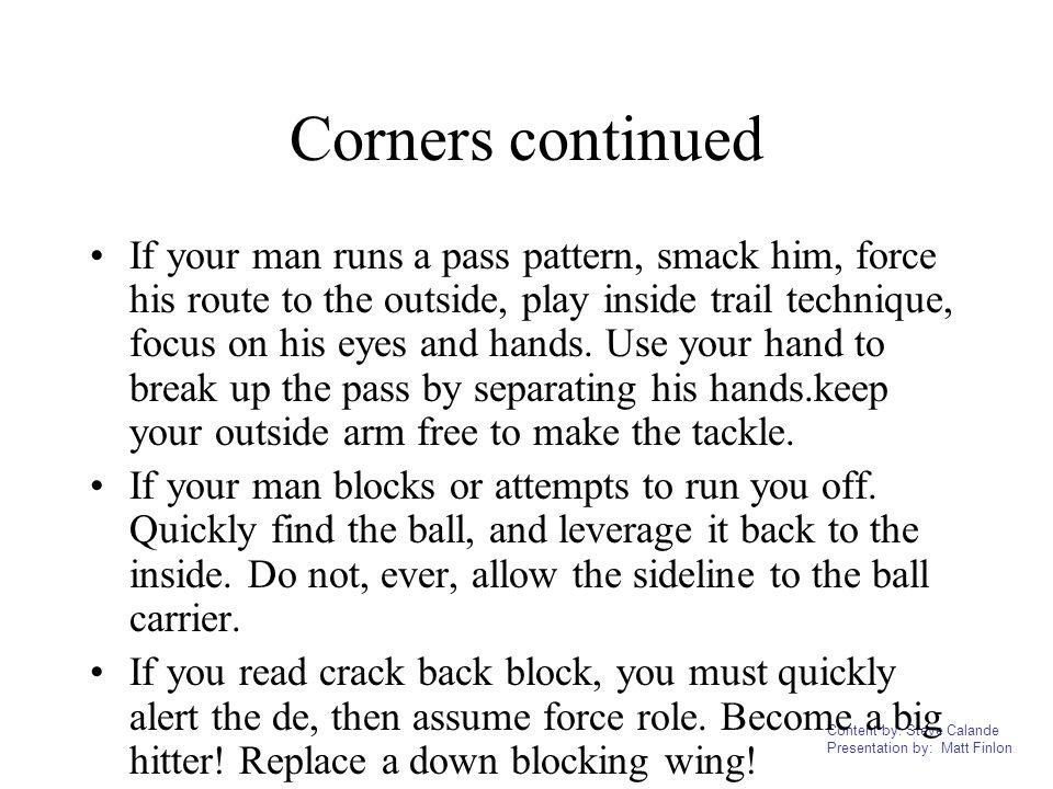 Corners continued
