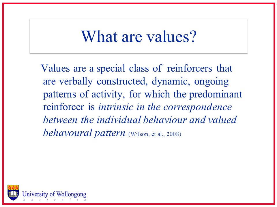 What are values