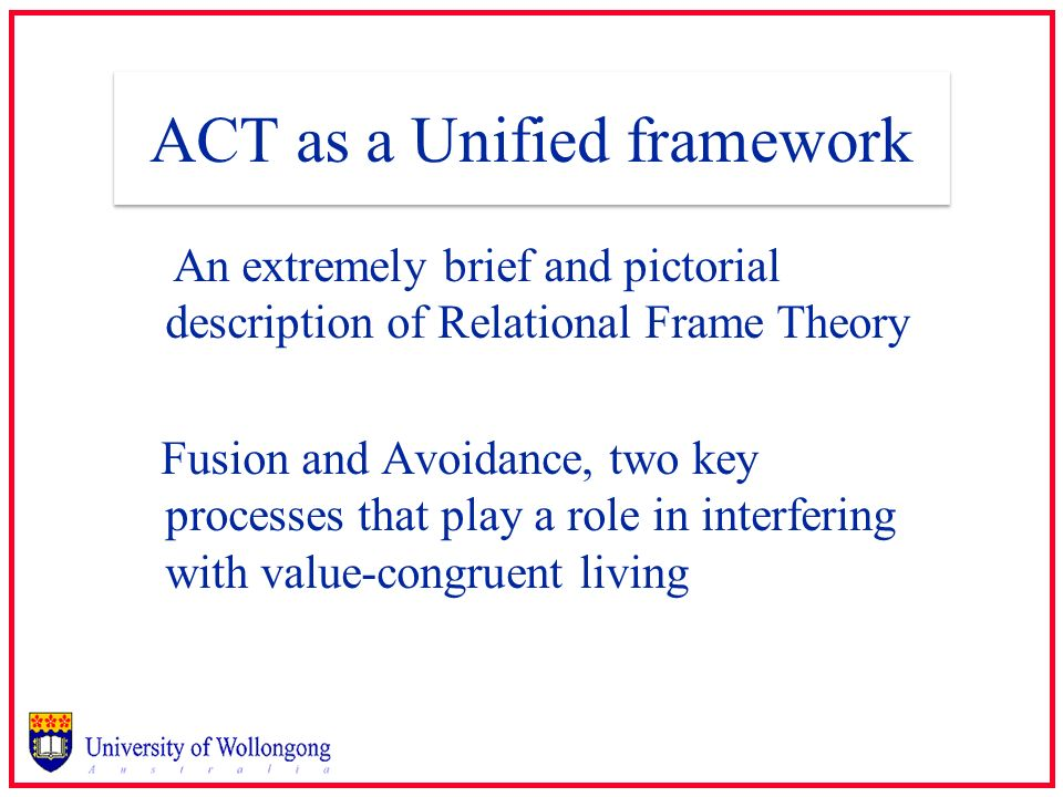 ACT as a Unified framework