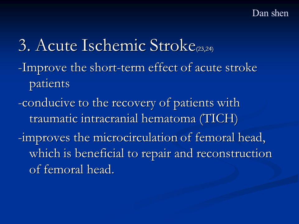 3. Acute Ischemic Stroke(23,24)