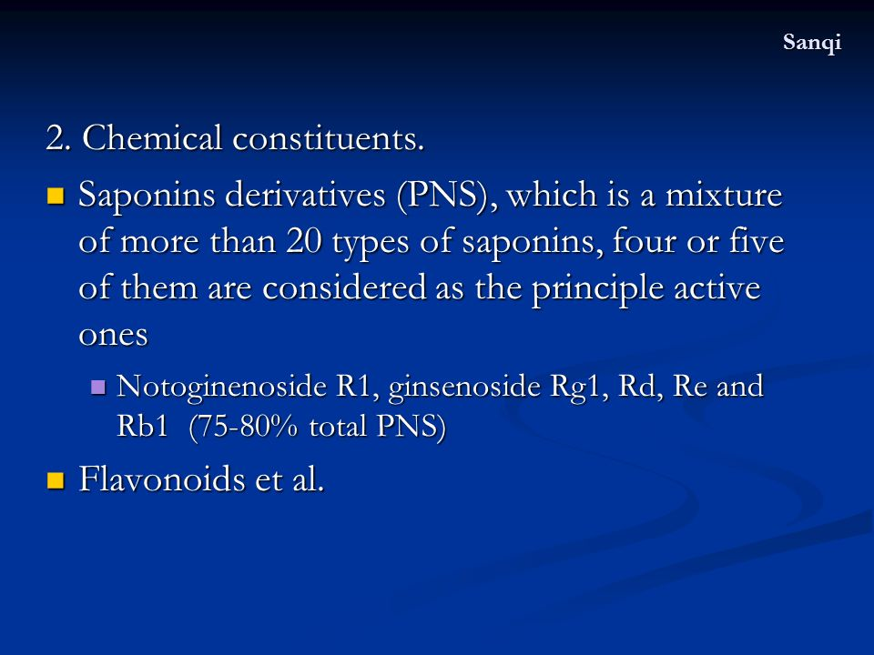 2. Chemical constituents.