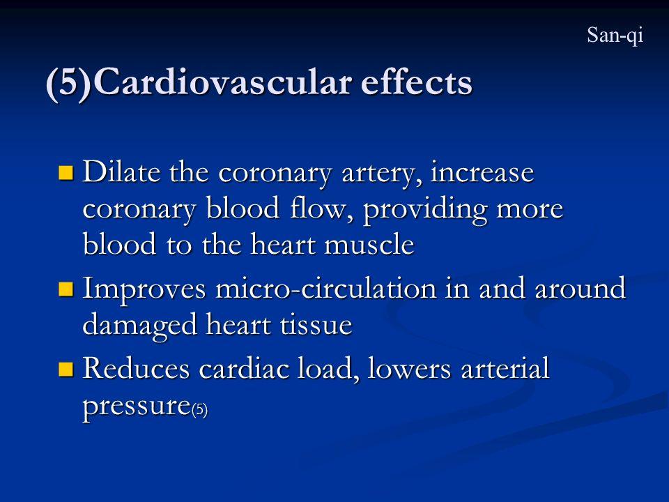 (5)Cardiovascular effects