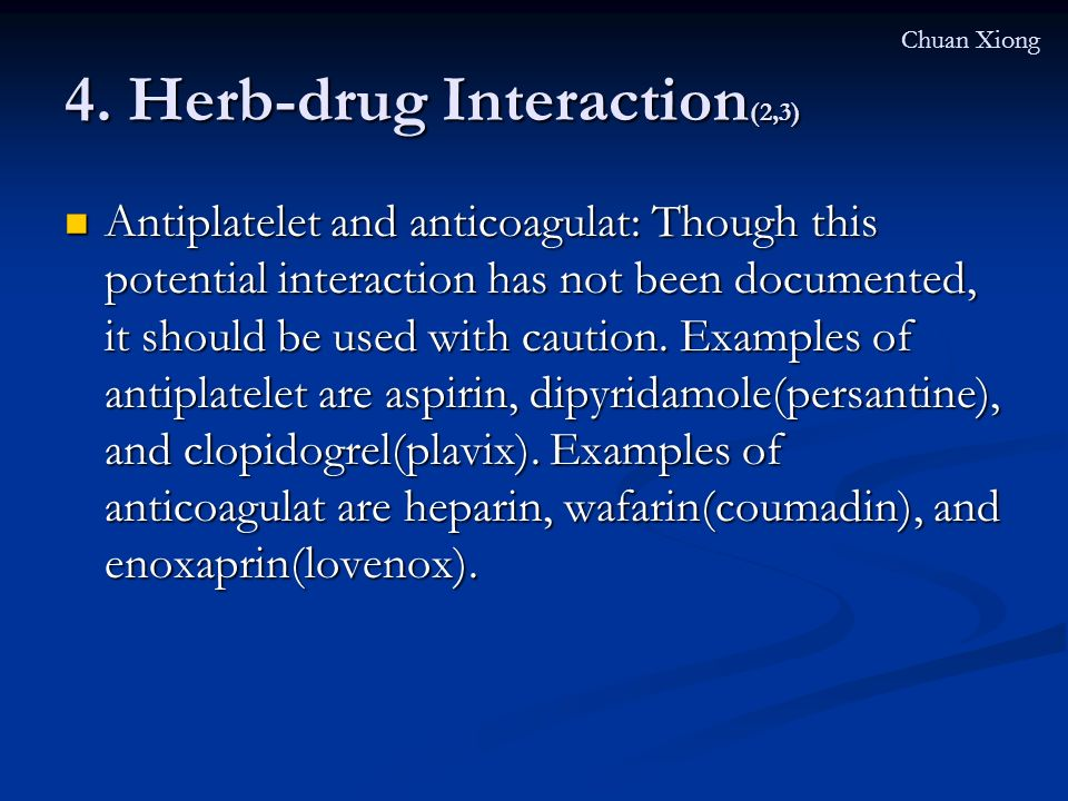 4. Herb-drug Interaction(2,3)