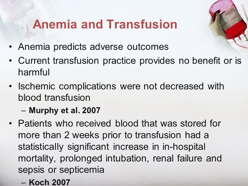 Anemia and Transfusion