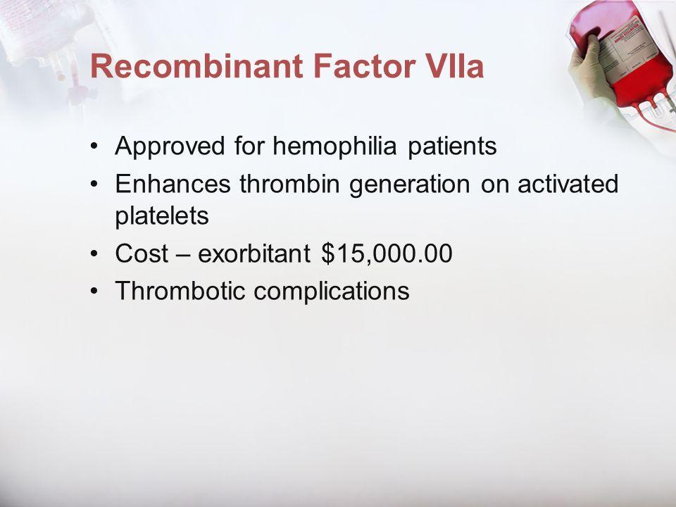 Recombinant Factor VIIa