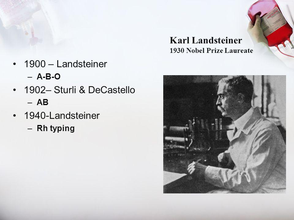 Karl Landsteiner 1930 Nobel Prize Laureate