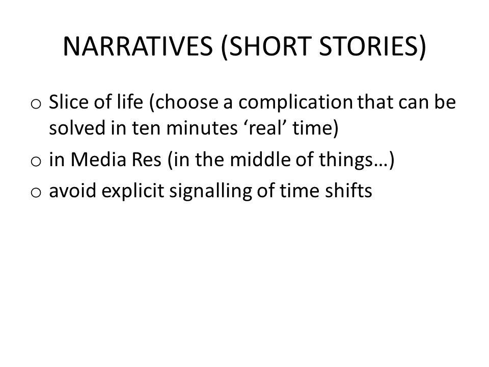 NARRATIVES (SHORT STORIES)