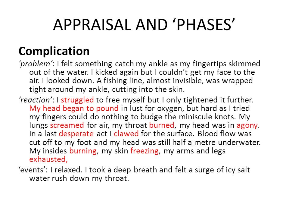 APPRAISAL AND 'PHASES'