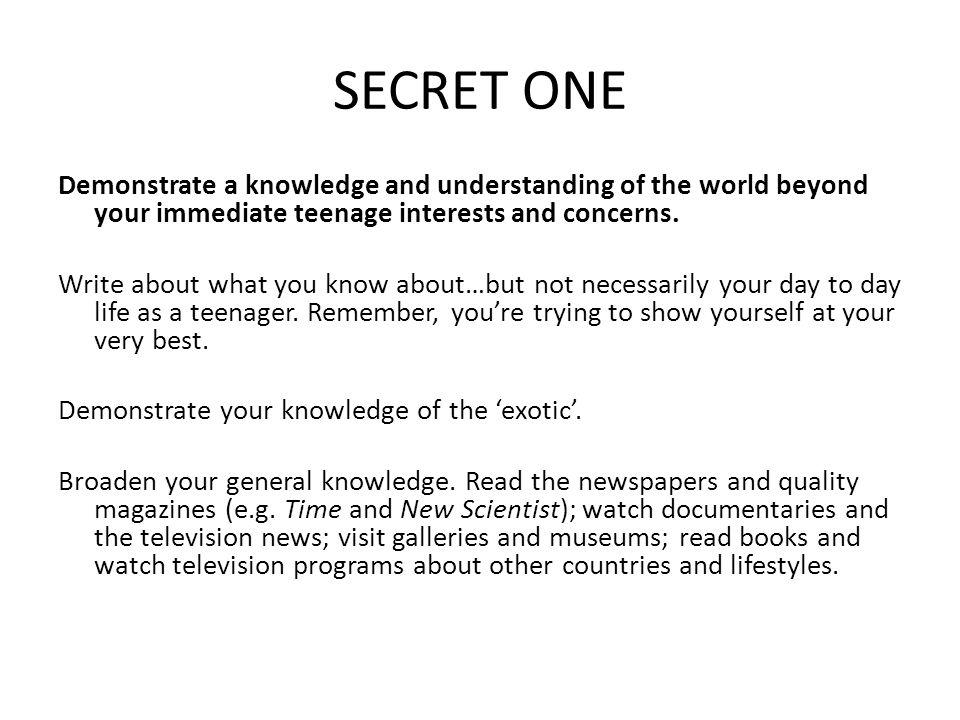 SECRET ONE