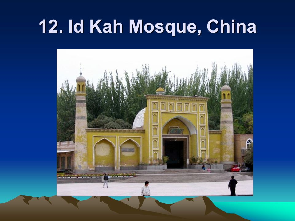 12. Id Kah Mosque, China