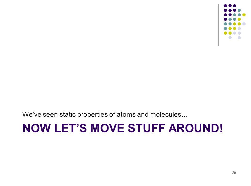NOW LET'S MOVE STUFF AROUND!