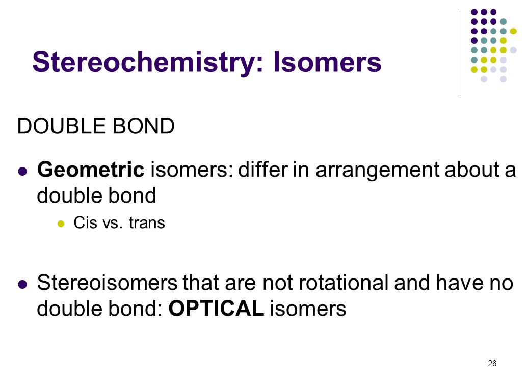Stereochemistry: Isomers