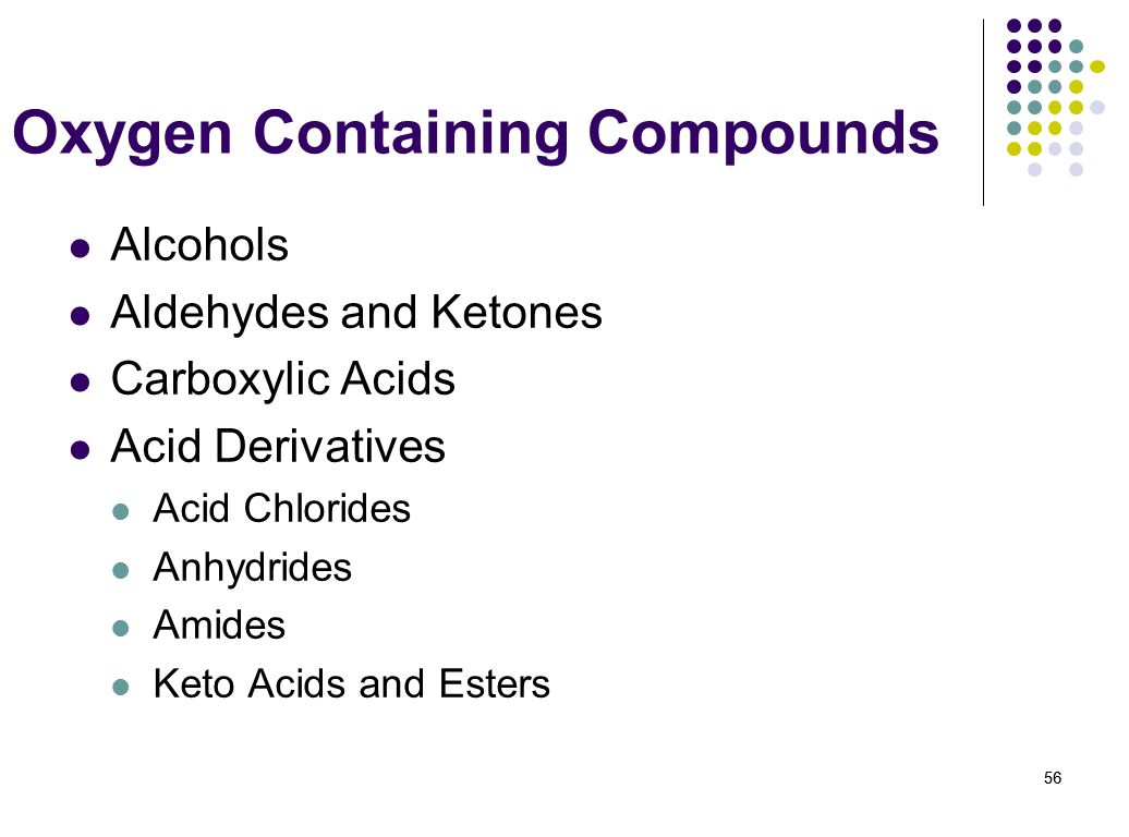 Oxygen Containing Compounds