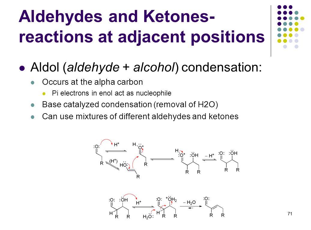 Aldehydes and Ketones-reactions at adjacent positions