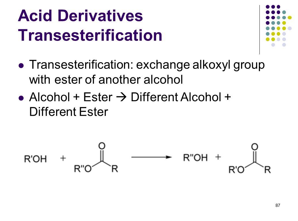 Acid Derivatives Transesterification