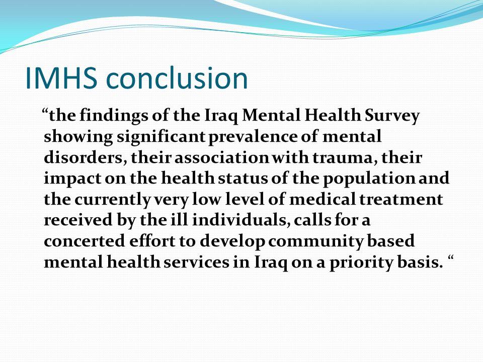 IMHS conclusion